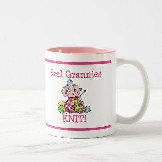 Real Grannies KNIT! Two-Tone Mug