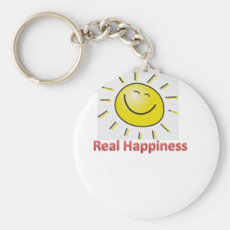 real happiness basic round button key ring