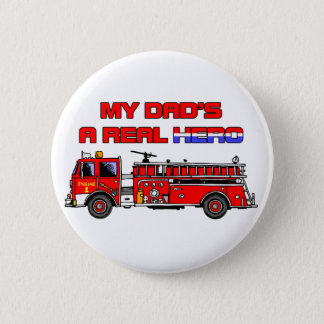 Real Hero Firefighter 6 Cm Round Badge