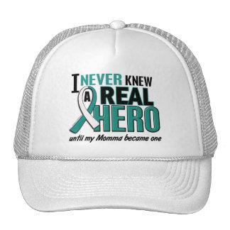 Real Hero Momma Cervical Cancer Trucker Hat