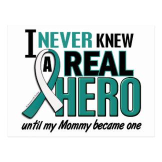 Real Hero Mommy Cervical Cancer Postcard