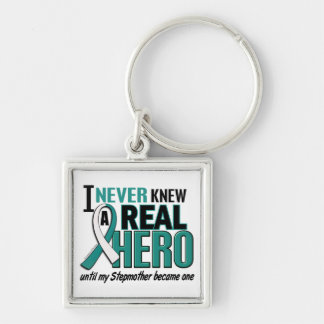 Real Hero Stepmother Cervical Cancer Silver-Colored Square Key Ring