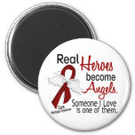 Real Heroes Become Angels Multiple Myeloma 6 Cm Round Magnet