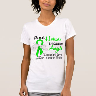 Real Heroes Become Angels Muscular Dystrophy Tee Shirts