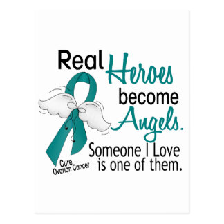 Real Heroes Become Angels Ovarian Cancer Postcard