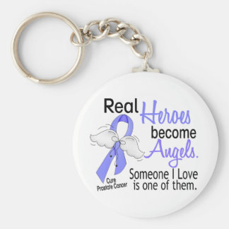 Real Heroes Become Angels Prostate Cancer Key Ring