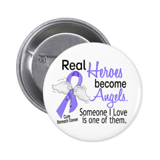 Real Heroes Become Angels Stomach Cancer 6 Cm Round Badge