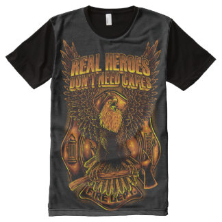 Real Heroes Don't Need Capes All-Over Print T-Shirt