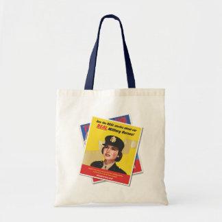 Real Heroes GIFF Vintage Poster Tote (Female) Budget Tote Bag