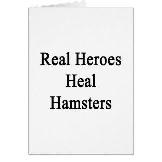 Real Heroes Heal Hamsters Note Card