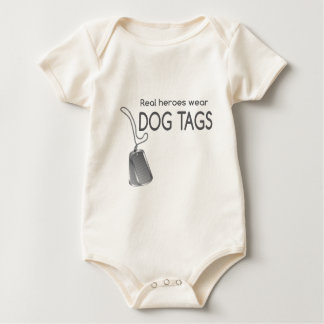 real heroes wear dog tags baby bodysuit