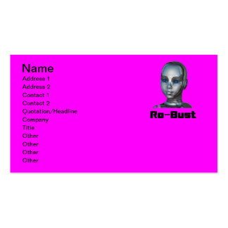 Real Hot Metal Head Pack Of Standard Business Cards