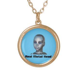 Real Hot Metal Head Round Pendant Necklace