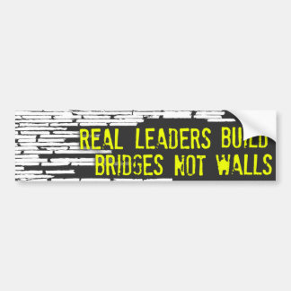 Real Leaders Bumper Sticker