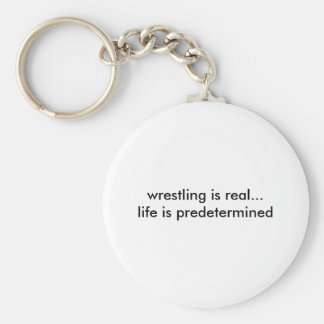 Real Life? Real Wrestling? Basic Round Button Key Ring