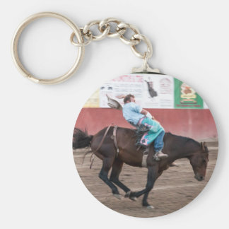 Real Live Cowboy Basic Round Button Key Ring