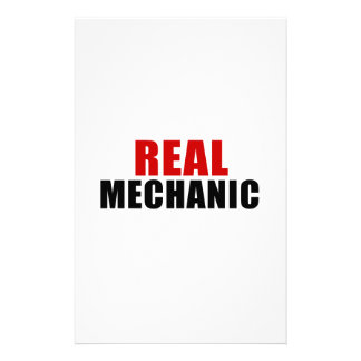 REAL MECHANIC PERSONALISED STATIONERY