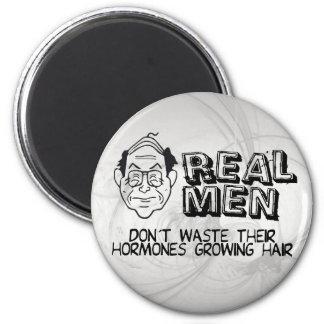 Real Men 6 Cm Round Magnet