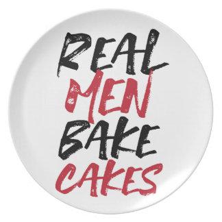 Real Men Bake Cakes plate