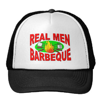 Real Men Barbeque Funny Design for The BBQ King Hats