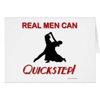 Real Men Can Quickstep Greeting Card