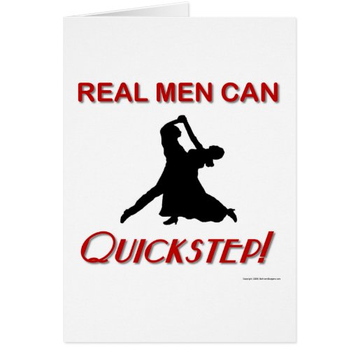 Real Men Can Quickstep Cards