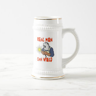 REAL MEN CAN WELD BEER STEINS