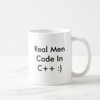 Real Men Code InC++ :) Coffee Cup - Customized Basic White Mug