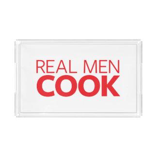 Real Men Cook Acrylic Tray