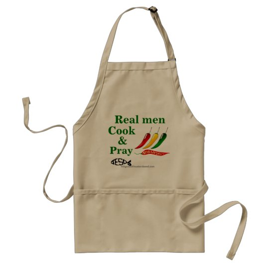 Real Men Cook and Pray Christian Standard Apron