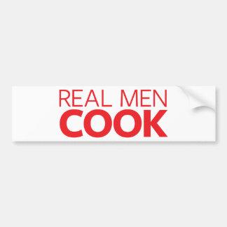Real Men Cook Bumper Sticker