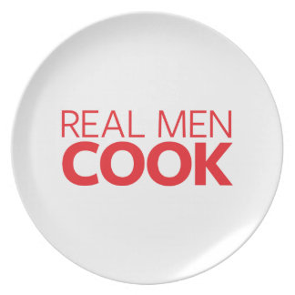 Real Men Cook Party Plate