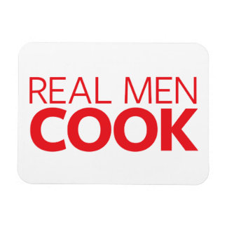Real Men Cook Rectangular Photo Magnet