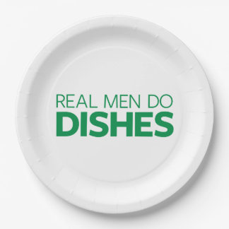 Real Men Do Dishes 9 Inch Paper Plate