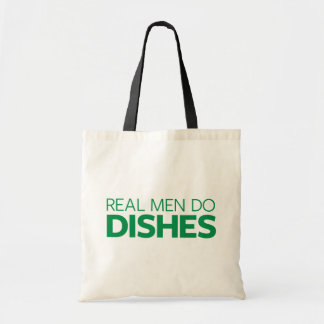 Real Men Do Dishes Tote Bag