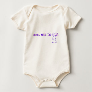 real men do yoga baby bodysuit