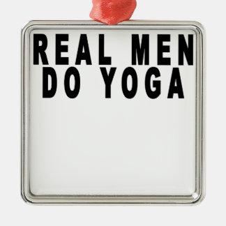 Real Men Do Yoga Shirts.png Christmas Ornament