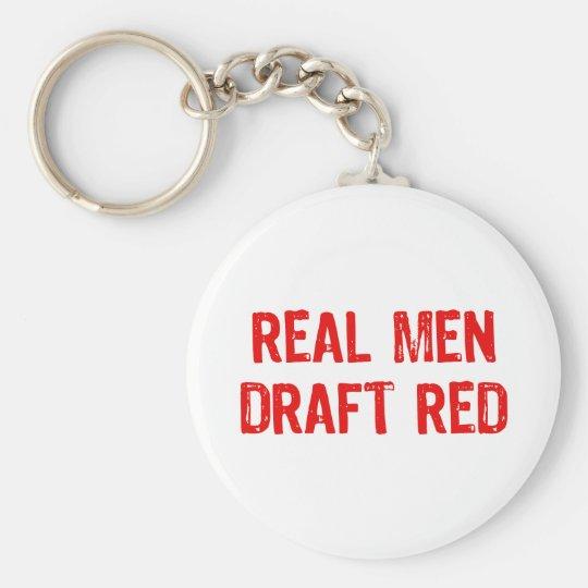 Real Men Draught   Red Key Ring