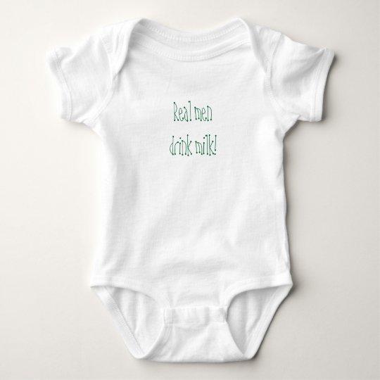Real men drink milk! baby bodysuit
