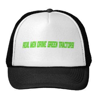 Real Men Drive Green Tractors Hats