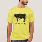 Real Men Eat Meat! Funny  Beef Cuts Butcher Chart T-Shirt