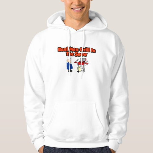 Real men grill in the snow hoodie