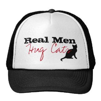 Real Men Hug Cats Kitty Love Funny Cap