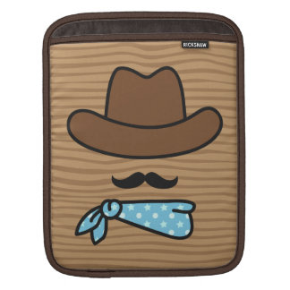 Real men knows how to wear a moustache iPad sleeve