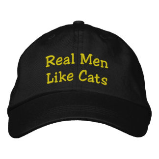 Real Men Like Cats Embroidered Hats