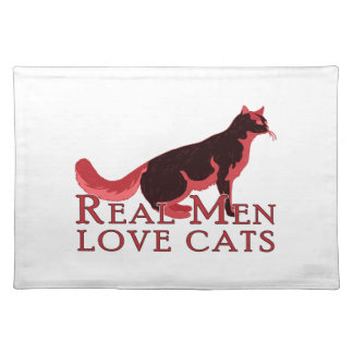Real Men Love Cats 2 Place Mats