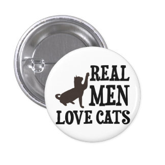 Real Men Love Cats 3 Cm Round Badge