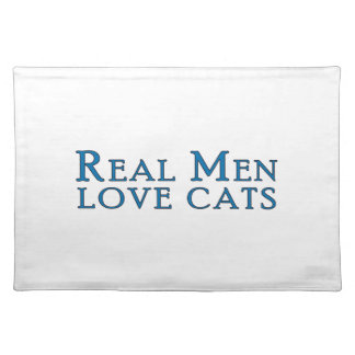 Real Men Love Cats 4 Placemats
