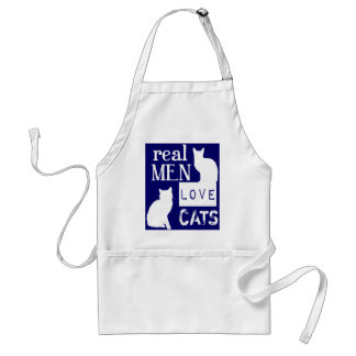 Real Men Love Cats (available in all colours) Adult Apron