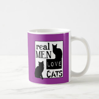 Real Men Love Cats (available in all colours) Basic White Mug